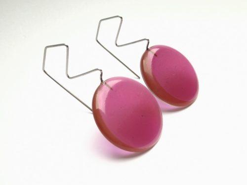 Boucles d'oreilles satellite Lilas