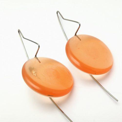 Boucles d'oreilles satellite oranges
